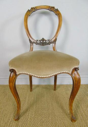 Antique Set of 4 Mahogany Balloon Back Chairs (1 of 8)