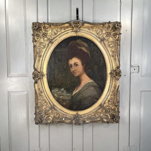 Antique Georgian Early Victorian Oil Painting Portrait of a Society Lady (1 of 10)