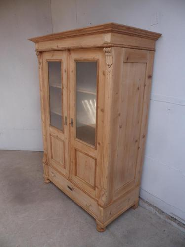 Lovely Antique Pine Knockdown Display Cabinet / Wardrobe to wax / paint (1 of 11)