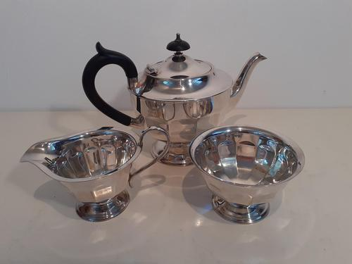 Silver Plated Sheffield Tea Set (1 of 3)