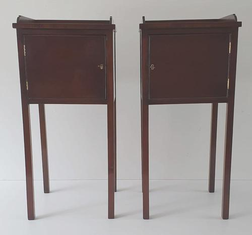 Pair of Hand Made 20th Century Mahogany Pot Cupboards (1 of 4)