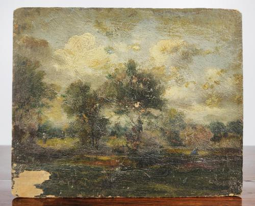 Late 18th Century Oil on Panel In The Manner of John Constable (1 of 6)