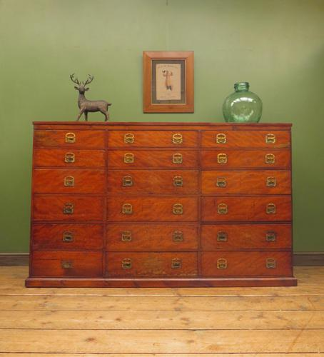 Substantial Antique Bank Of 18 Shop Drawers (1 of 25)