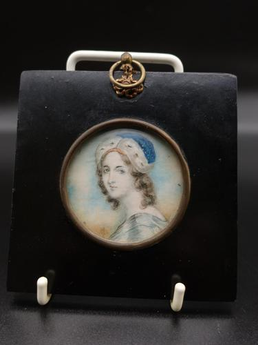 Mid 19th Century Miniature Portrait of a Young Female Beauty (1 of 3)