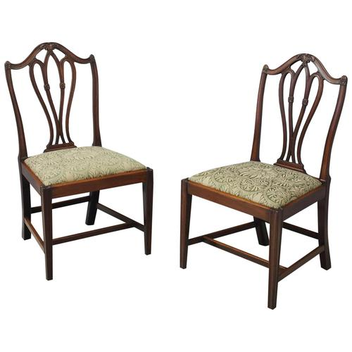 Pair of George III Mahogany Dining Chairs (1 of 10)