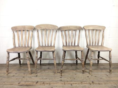 Four 19th Century Farmhouse Kitchen Chairs (1 of 12)