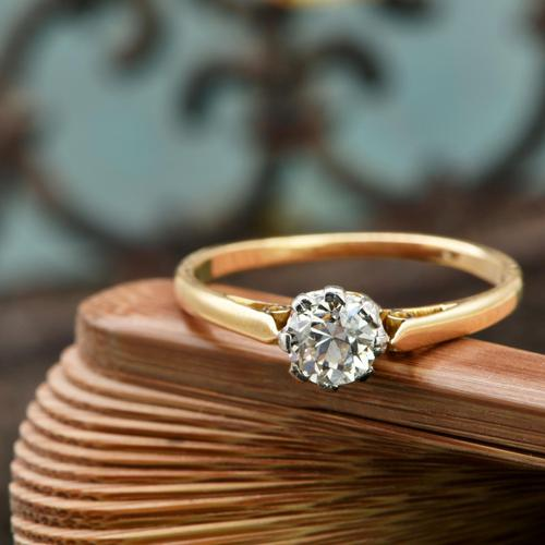 The Vintage Brilliant Cut Diamond Solitaire Ring (1 of 5)