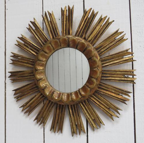 French Giltwood Sunburst Mirror (1 of 8)