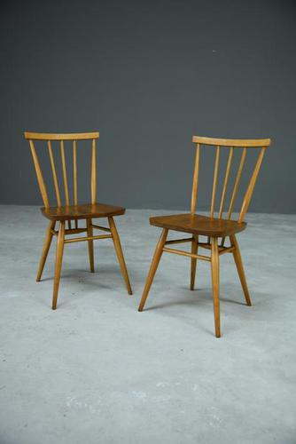 Pair of Vintage Ercol Stick Back Kitchen Chairs (1 of 8)