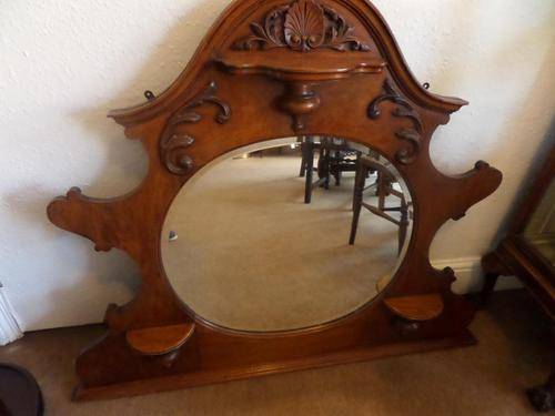 A lovely Mahogany Round Bevel Edged Mirror 1860's? (1 of 6)