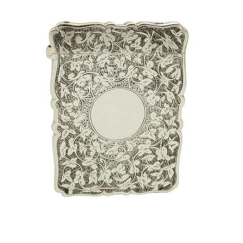Antique Victorian Sterling Silver Card Case 1886 (1 of 9)