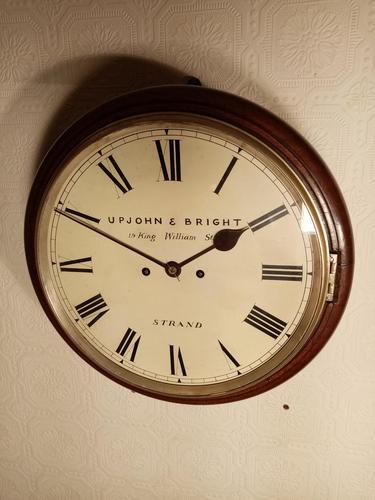 London, Twin-Fusee, Bell Striking Wall Clock (1 of 5)