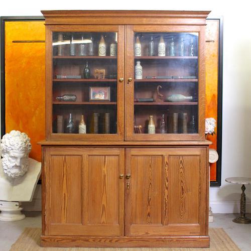 Oak Pine School Cabinet 19th Century (1 of 12)