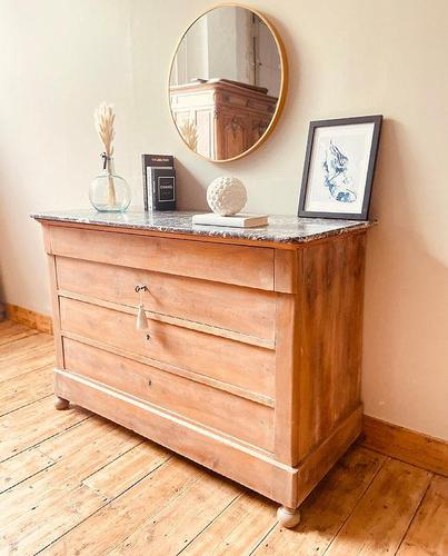 French Antique Drawers / Bleached Walnut Chest of Drawers / Louis Philippe Commode (1 of 5)