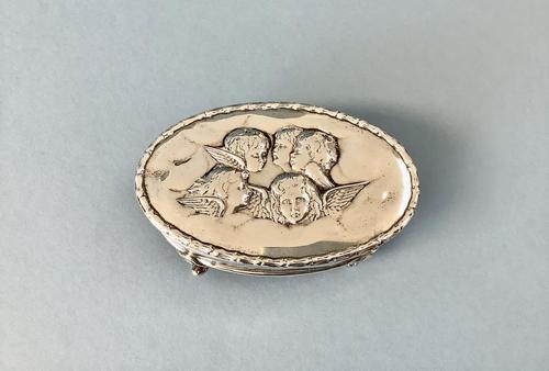 Antique Edwardian Silver Jewellery Box (1 of 5)