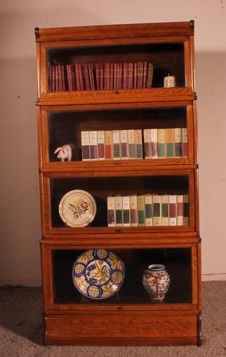 Globe Wernicke Bookcase in Oak Called Waterfall from England (1 of 9)