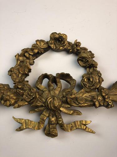 Antique French Ormolu Gilt Bronze Pediment Architectural Salvage (1 of 11)