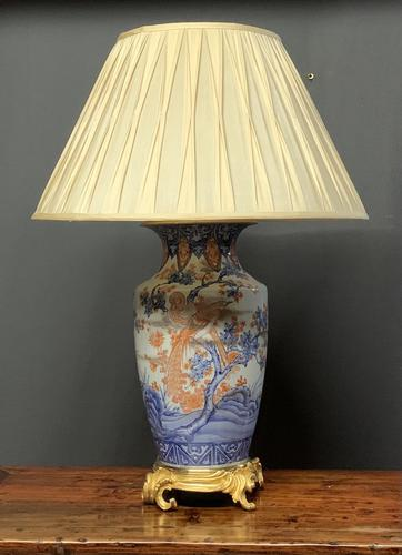 Fabulous Large Ormolu Base Imari Table Lamp (1 of 7)