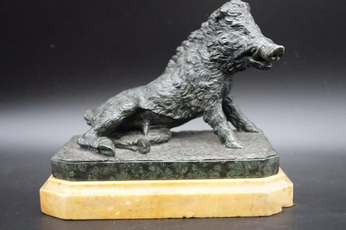 A Finely Modelled Mid 19th Century Bronze Figure of the Ufizzi Boar (1 of 8)