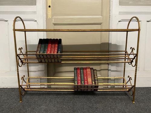 Stylish French Gilt Metal Book Shelves (1 of 16)