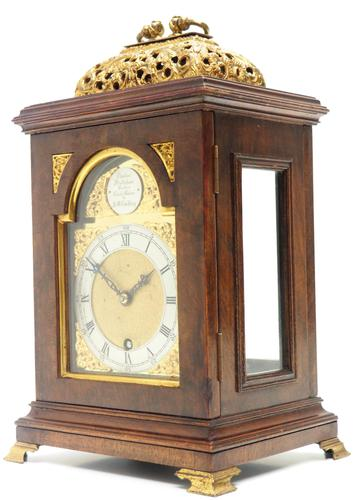 Stunning Burr Walnut Basket Top Bracket Clock by Charles Frodsham Clock Makers to The King (1 of 12)