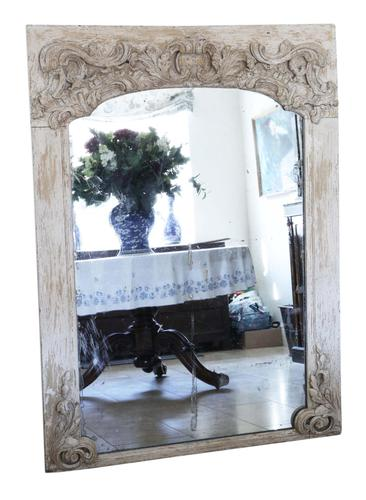 19th Century Large Quality Painted Chateau Overmantle / Wall Mirror (1 of 8)
