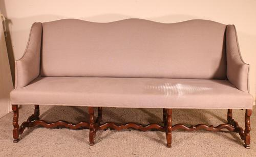 Louis XIII Sofa Called Os De Mouton in Walnut 17th Century (1 of 9)