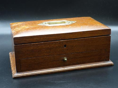 Early 20th Century Oak Jewellery Box (1 of 5)