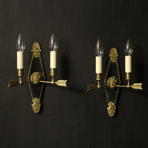 French Pair Of Empire Antique Wall Lights Oka (1 of 10)