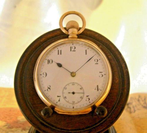 Antique Omega Labrador Pocket Watch 1912 15 Jewel 10ct Rose Gold Filled Case FWO (1 of 12)