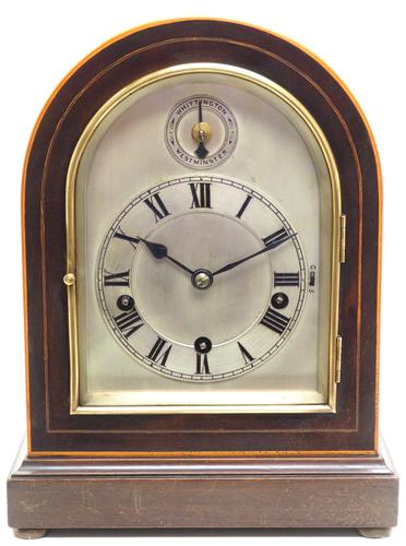 Mahogany & Bevelled Glass W&H Mantel Clock Dual Chiming Musical Bracket Clock Chiming on 8 Coiled Gongs (1 of 10)