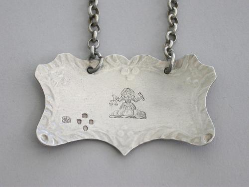 Rare Victorian Silver Goldsmiths Company Wine Label 'Madeira' by Charles Rawlings & William Summers, London, 1854 (1 of 9)