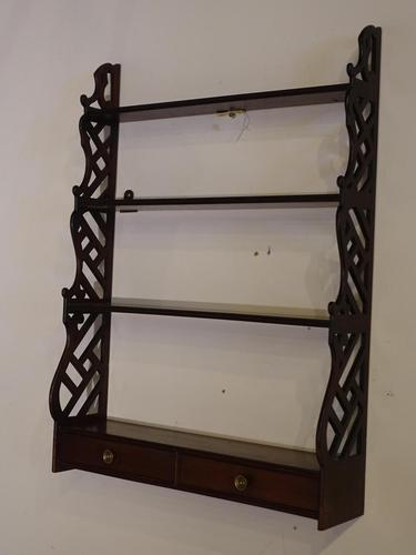 Most Attractive Chippendale Period Mahogany Hanging Rack (1 of 4)