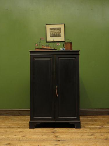 Antique Black Painted Storage Cabinet, Gothic Shabby Chic, Spillman & CO, London (1 of 17)