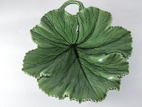 Copeland Majolica 'Vine Leaf' Serving Dish c.1860 (1 of 3)