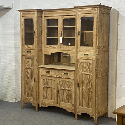 Very large antique dresser with glazed display cupboards (1 of 9)