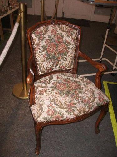 Continental Style Needlepoint Arm Chair (1 of 3)
