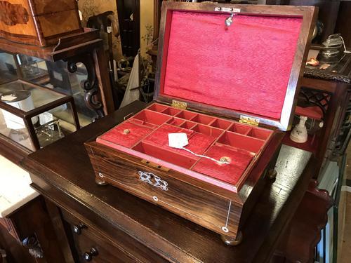Rosewood Regency jewellery Box (1 of 11)