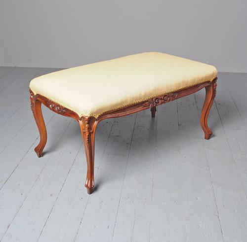 Antique Victorian Carved Walnut Centre Stool (1 of 7)
