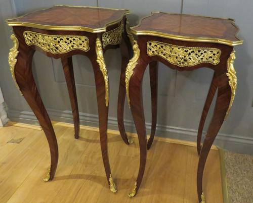 Stunning Pair of French Side Tables Gueridons (1 of 8)