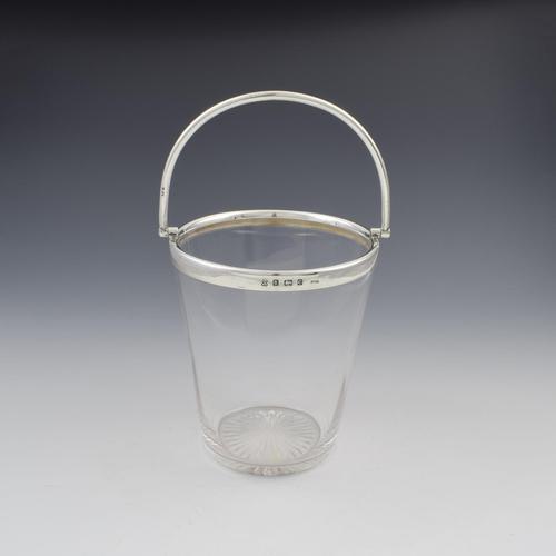 Fine Edwardian Sterling Silver Mounted Cut Glass Ice Pail Bucket (1 of 7)