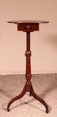 Small Tripod Pedestal Table with Mechanism 19th Century in Mahogany (1 of 9)