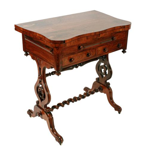 Rosewood Turn Over Top Writing Table (1 of 9)