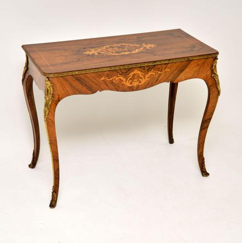 Antique Victorian Marquetry Top Console Table (1 of 12)
