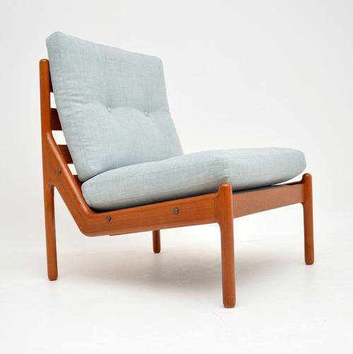 Danish 1960's Teak Lounge Chair by Illum Wikkelso (1 of 10)