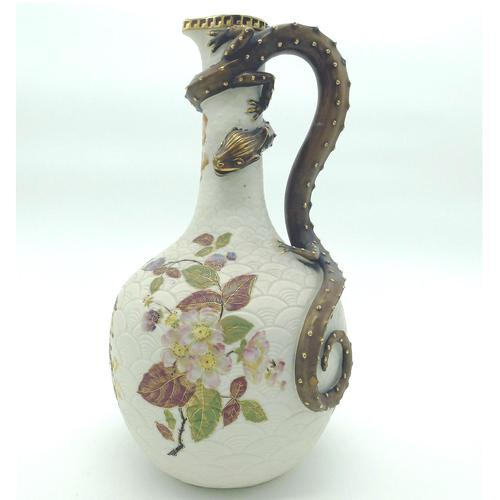 A Very Large and Very Fine Royal Worcester Porcelain Dragon Ewer C.1887 (1 of 11)