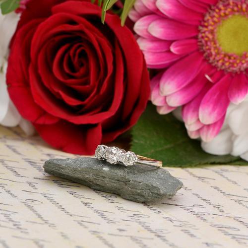 The Victorian 1895 Old Cut Three Diamond Ring (1 of 5)