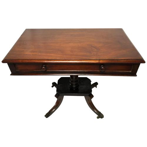 Antique Regency 19th Century Circa 1820 Irish Campaign Side Table With Drawer (1 of 12)