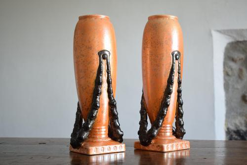 Large Pair of Secessionist Period Vases (1 of 10)