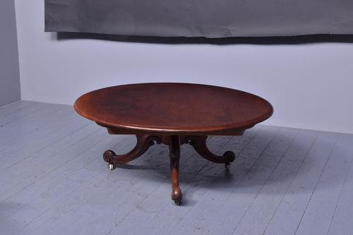 Large Victorian Circular Low / Coffee Table (1 of 5)